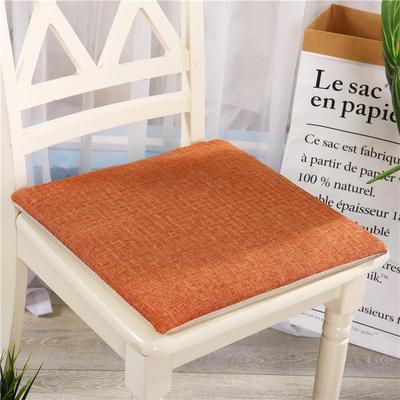 重磅麻坐垫-棉麻亚麻椅垫榻榻米坐垫 学生电脑椅垫餐椅垫子 40*40cm 蜜桔色