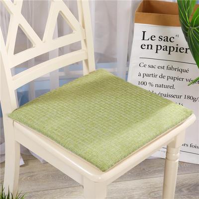重磅麻坐垫-棉麻亚麻椅垫榻榻米坐垫 学生电脑椅垫餐椅垫子 40*40cm 嫩绿色