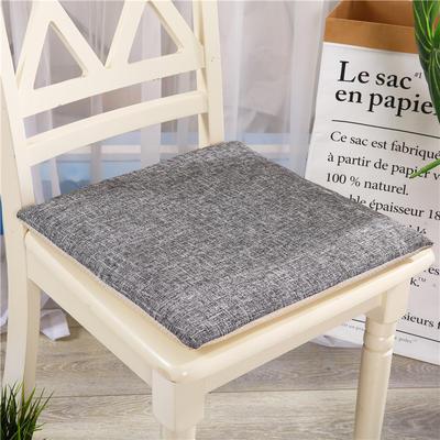 重磅麻坐垫-棉麻亚麻椅垫榻榻米坐垫 学生电脑椅垫餐椅垫子 40*40cm 深灰色