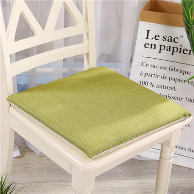 竹节麻坐垫-三角靠垫 棉麻亚麻座垫椅垫 餐椅垫学生电脑椅垫 40*40cm 草绿色