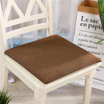 竹节麻坐垫-三角靠垫 棉麻亚麻座垫椅垫 餐椅垫学生电脑椅垫 40*40cm 咖啡色