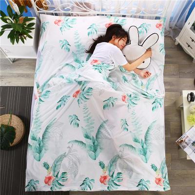 2018新款-爆款水洗棉隔脏睡袋 酒店宾馆防脏床单被套 绿芭蕉180*210