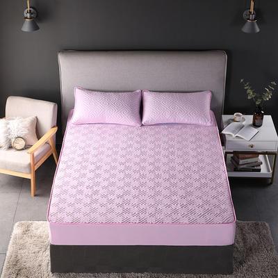 2018新款加厚水洗棉床笠-单品-夹棉枕套 单枕套加棉 48cmX74cm 如意格粉