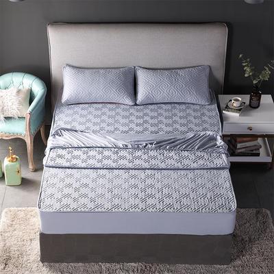 2018新款加厚水洗棉床笠-单品-夹棉枕套 单枕套加棉 48cmX74cm 如意格灰