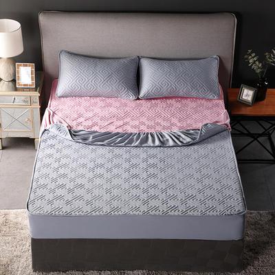 2018新款加厚水洗棉床笠-单品-夹棉枕套 单枕套加棉 48cmX74cm 双面如意灰