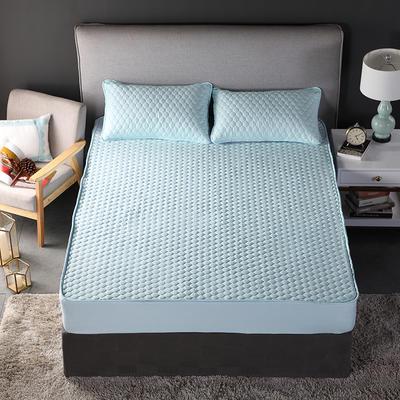 2018新款加厚水洗棉床笠-单品-夹棉枕套 单枕套加棉 48cmX74cm 幸福圆绿