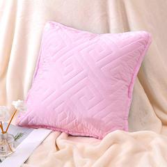 新款绗缝抱枕含芯 办公室小抱枕 赠品抱枕 沙发抱枕靠垫 40X40cm 如意粉