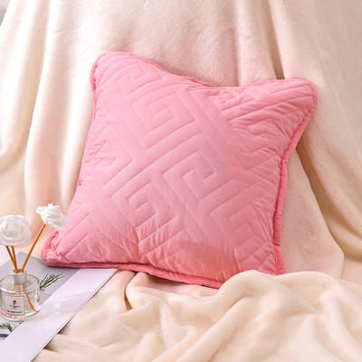 新款绗缝抱枕含芯 办公室小抱枕 赠品抱枕 沙发抱枕靠垫 40X40cm 如意玉