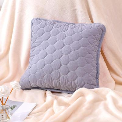 新款绗缝抱枕含芯 办公室小抱枕 赠品抱枕 沙发抱枕靠垫 40X40cm 幸福灰