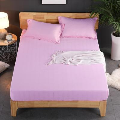 磨毛提花床笠 单件改良床单 水洗棉加厚床罩 床单保护罩 90*200*30 初恋粉