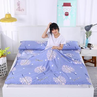 2019新款-全棉隔脏睡袋 成人旅游酒店宾馆旅行睡袋 夏桑160*230