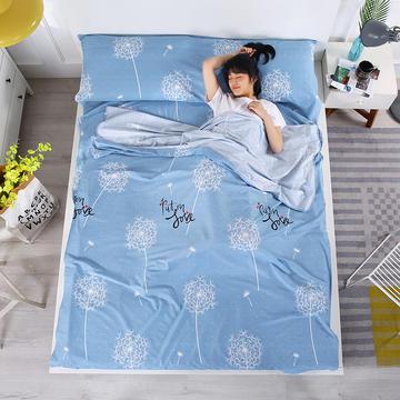 2019新款-全棉隔脏睡袋 成人旅游酒店宾馆旅行睡袋