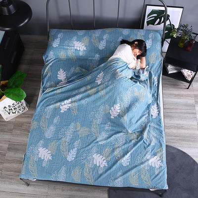 2019新款-  隔脏睡袋宾馆酒店旅行成人睡袋 出游旅游床单 春晓160*210
