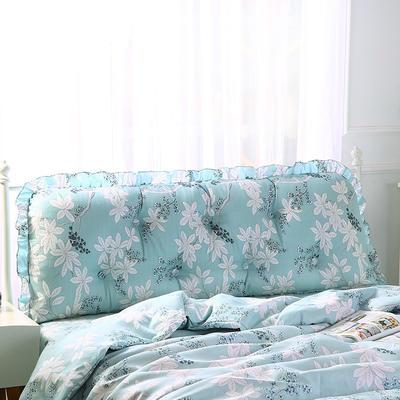 2019新款-韩版靠垫床头大靠背床头软包跑量款长靠枕 90*50 似水柔情