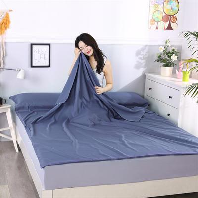 2019新款-跑量款睡袋 隔脏睡袋 成人宾馆酒店旅行睡袋一次性 120*210色青