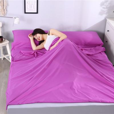 2019新款-跑量款睡袋 隔脏睡袋 成人宾馆酒店旅行睡袋一次性 160*210淡紫