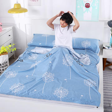 2019新款-全棉旅行隔脏睡袋 宾馆酒店旅游成人睡袋