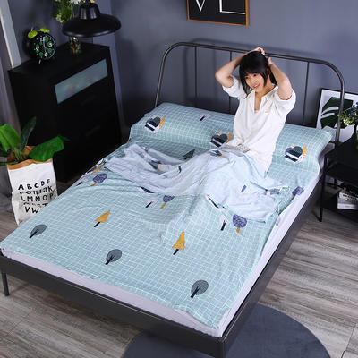 2019新款-水洗棉旅行隔脏睡袋 宾馆酒店便携式成人睡袋 美梦120*210