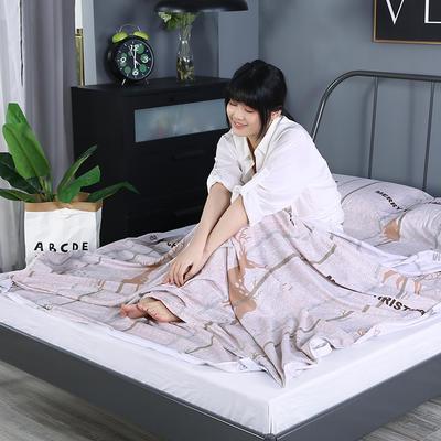 2019新款-水洗棉旅行隔脏睡袋 宾馆酒店便携式成人睡袋 吉祥160*210