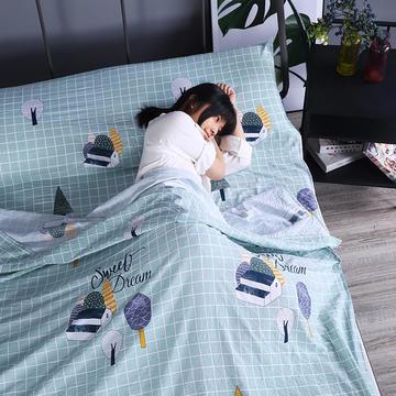 2019新款-水洗棉旅行隔脏睡袋 宾馆酒店便携式成人睡袋