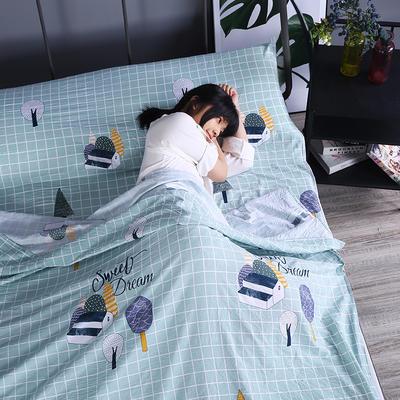 2019新款-水洗棉旅行隔脏睡袋 宾馆酒店便携式成人睡袋 美梦160*210