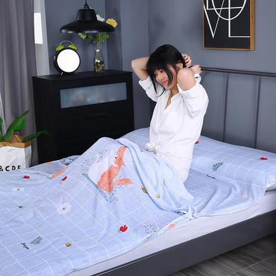 2019新款-水洗棉旅行隔脏睡袋 宾馆酒店便携式成人睡袋 爱恋180*210