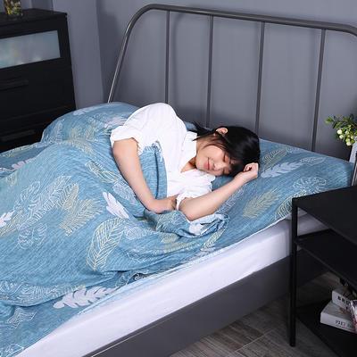 2019新款-水洗棉旅行隔脏睡袋 宾馆酒店便携式成人睡袋 春晓180*210