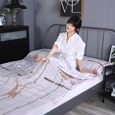 2019新款-水洗棉旅行隔脏睡袋 宾馆酒店便携式成人睡袋 吉祥180*210