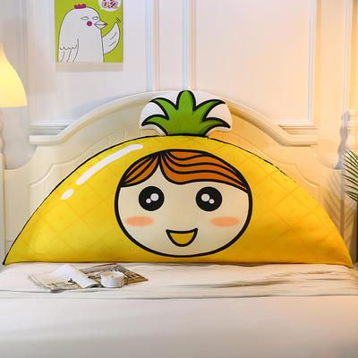 2019新款-印花卡通床头靠垫 榻榻米公主风网红大靠背 100*50 菠萝女孩