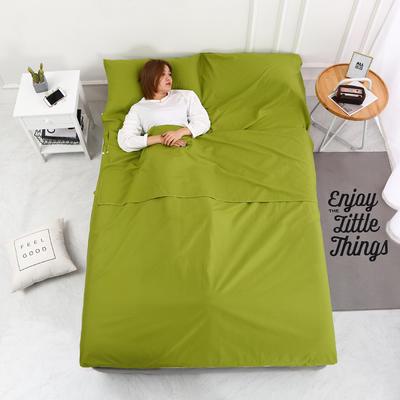 2020新款-13372全棉旅行睡袋 成人酒店宾馆隔脏睡袋 全棉 豆绿80*210