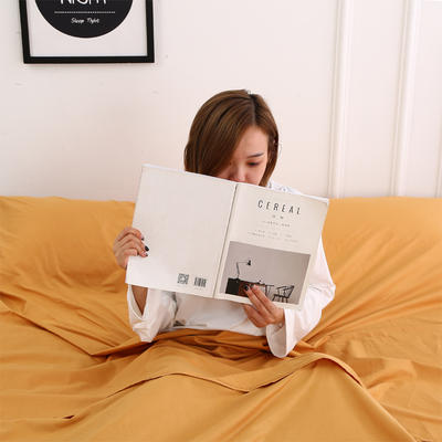 2020新款-13372全棉旅行睡袋 成人酒店宾馆隔脏睡袋 全棉 姜黄120*210
