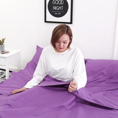 2020新款-13372全棉旅行睡袋 成人酒店宾馆隔脏睡袋 全棉 紫色120*210