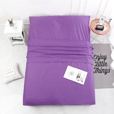 2020新款-13372全棉旅行睡袋 成人酒店宾馆隔脏睡袋 全棉 紫色160*210