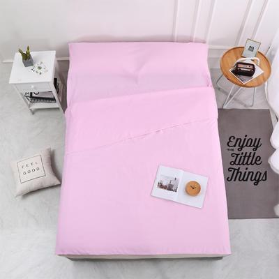 2020新款-磨毛隔脏睡袋 爆款跑量酒店宾馆旅游旅行睡袋 磨毛 粉红180*210