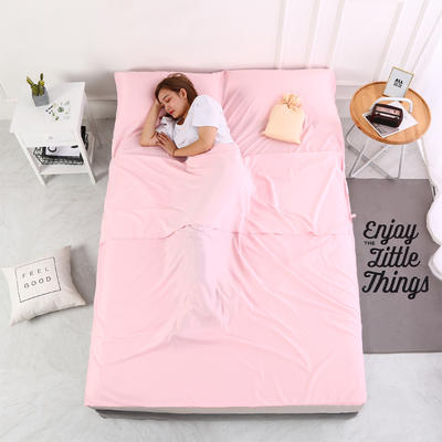 2020新款-莫代尔酒店旅行睡袋 宾馆成人旅游隔脏睡袋 莫代尔 粉色80*210