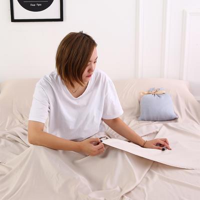 2020新款-莫代尔酒店旅行睡袋 宾馆成人旅游隔脏睡袋 莫代尔 驼色120*210