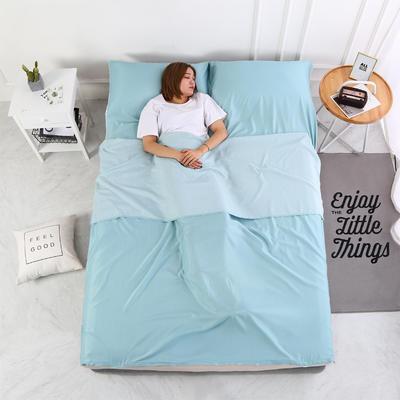 2020新款-莫代尔酒店旅行睡袋 宾馆成人旅游隔脏睡袋 莫代尔 薄荷蓝180*210