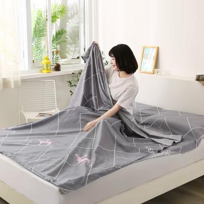 2020新款全棉隔脏睡袋 酒店宾馆旅游成人旅行睡袋 160*210慕思-咖