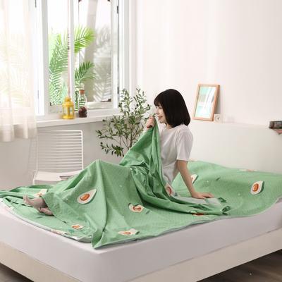 2020新款全棉隔脏睡袋 酒店宾馆旅游成人旅行睡袋 160*210水果乐园-绿