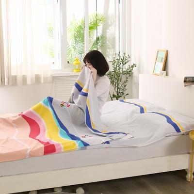 2020新款全棉隔脏睡袋 酒店宾馆旅游成人旅行睡袋 160*210五彩童话