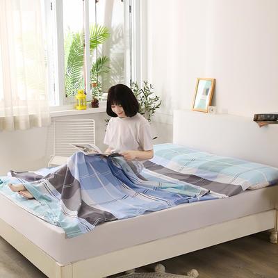 2020新款全棉隔脏睡袋 酒店宾馆旅游成人旅行睡袋 180*210摩萨之旅-咖