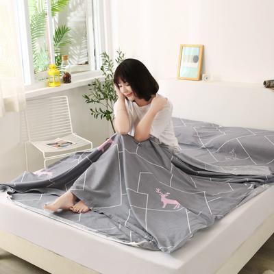 2020新款全棉隔脏睡袋 酒店宾馆旅游成人旅行睡袋 180*210慕思-咖