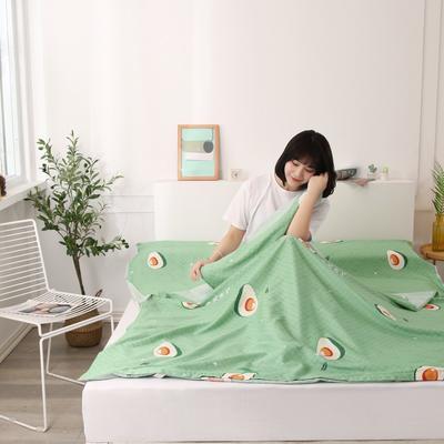 2020新款全棉隔脏睡袋 酒店宾馆旅游成人旅行睡袋 180*210水果乐园-绿