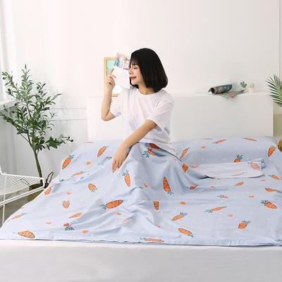 2020新款全棉隔脏睡袋 酒店宾馆旅游成人旅行睡袋 200*210可爱萝卜