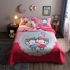 2018新款棉加绒大版卡通床盖系列--单床盖 200cmx230cm 好朋友