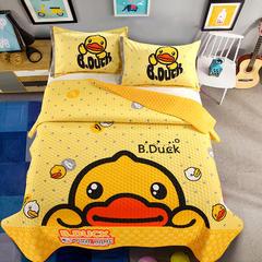 2018新款棉加绒大版卡通床盖系列--单床盖 200cmx230cm 小黄鸭