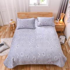 2018新品水晶绒直边款床盖、床盖三件套 枕套74*47*2 清韵