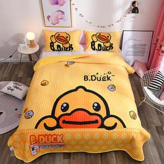 2018新品水晶绒大版卡通床盖,床盖三件套 枕套74*47*2 小黄鸭