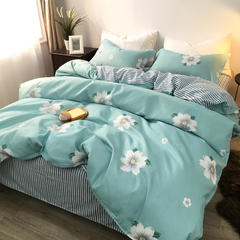 磨毛植物羊绒棉四件套硬纸板包装实拍图 1.8m(6英尺)床 纯梦