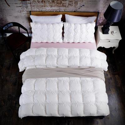 新款单边米字格羽绒被-白色(促销款) 160*210cm 小号 白色